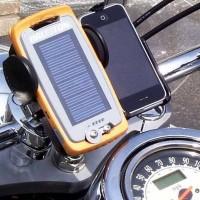 Ładowarka zasilana energią słoneczną w motocyklu